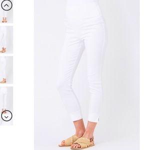 8961988d5a834 Ripe Maternity Pants   White Maternity Caprisleggings Ripe Brand ...